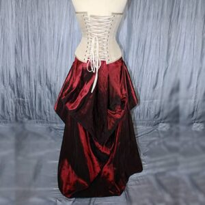 Vixen Red Tafetta Skirt Front with corset