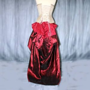 Vixen skirt and bustle with corset example back